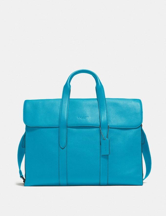 Coach Metropolitan Portfolio Qb/Parrot Blue New Men's New Arrivals Bags