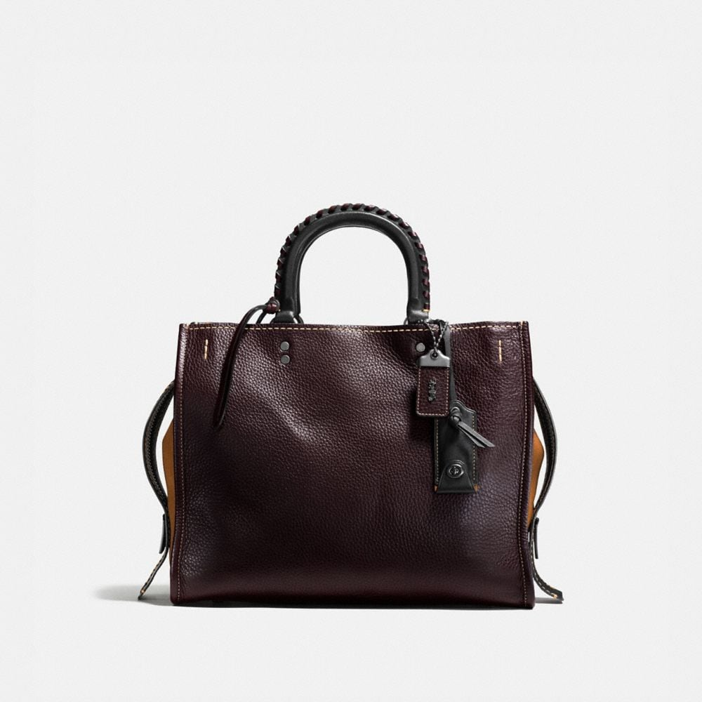 ROGUE IN GLOVETANNED PEBBLE LEATHER WITH EMBELLISHED HANDLE