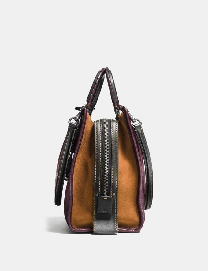 Coach Rogue With Whipstitch Handle Oxblood/Black Copper SALE Women's Sale Bags Alternate View 1