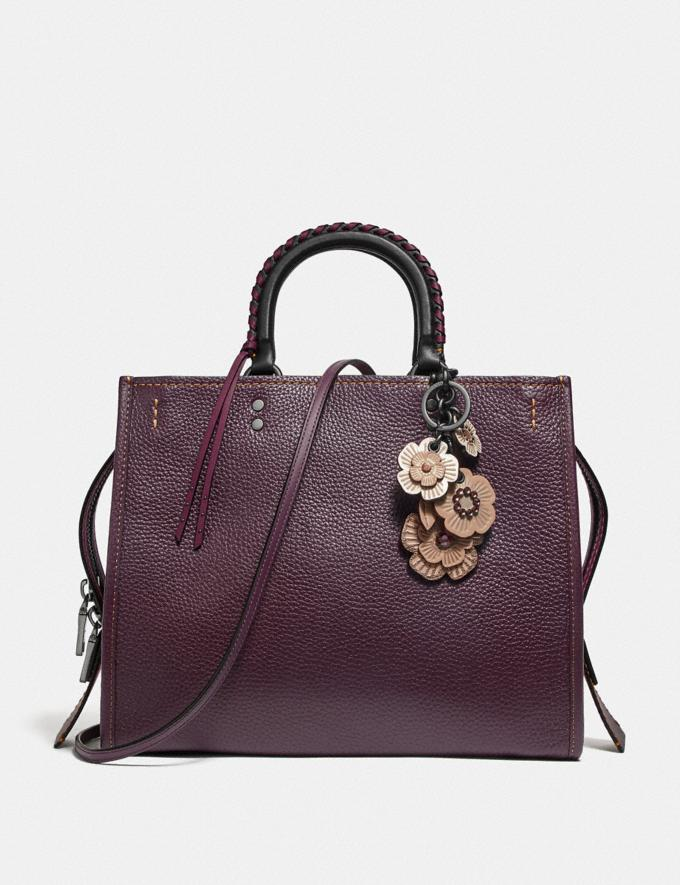 Coach Rogue With Whipstitch Handle Oxblood/Black Copper SALE Women's Sale Bags Alternate View 3