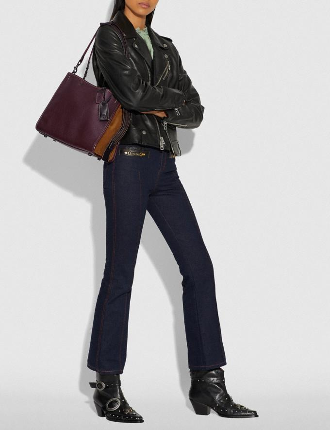 Coach Rogue With Whipstitch Handle Oxblood/Black Copper SALE Women's Sale Bags Alternate View 4