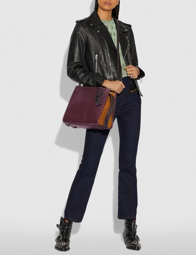 Coach Rogue With Whipstitch Handle Oxblood/Black Copper SALE Women's Sale Bags Alternate View 5