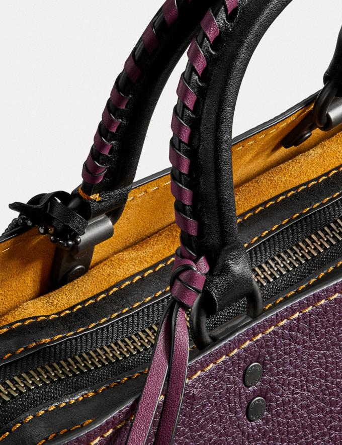 Coach Rogue With Whipstitch Handle Oxblood/Black Copper SALE Women's Sale Bags Alternate View 6