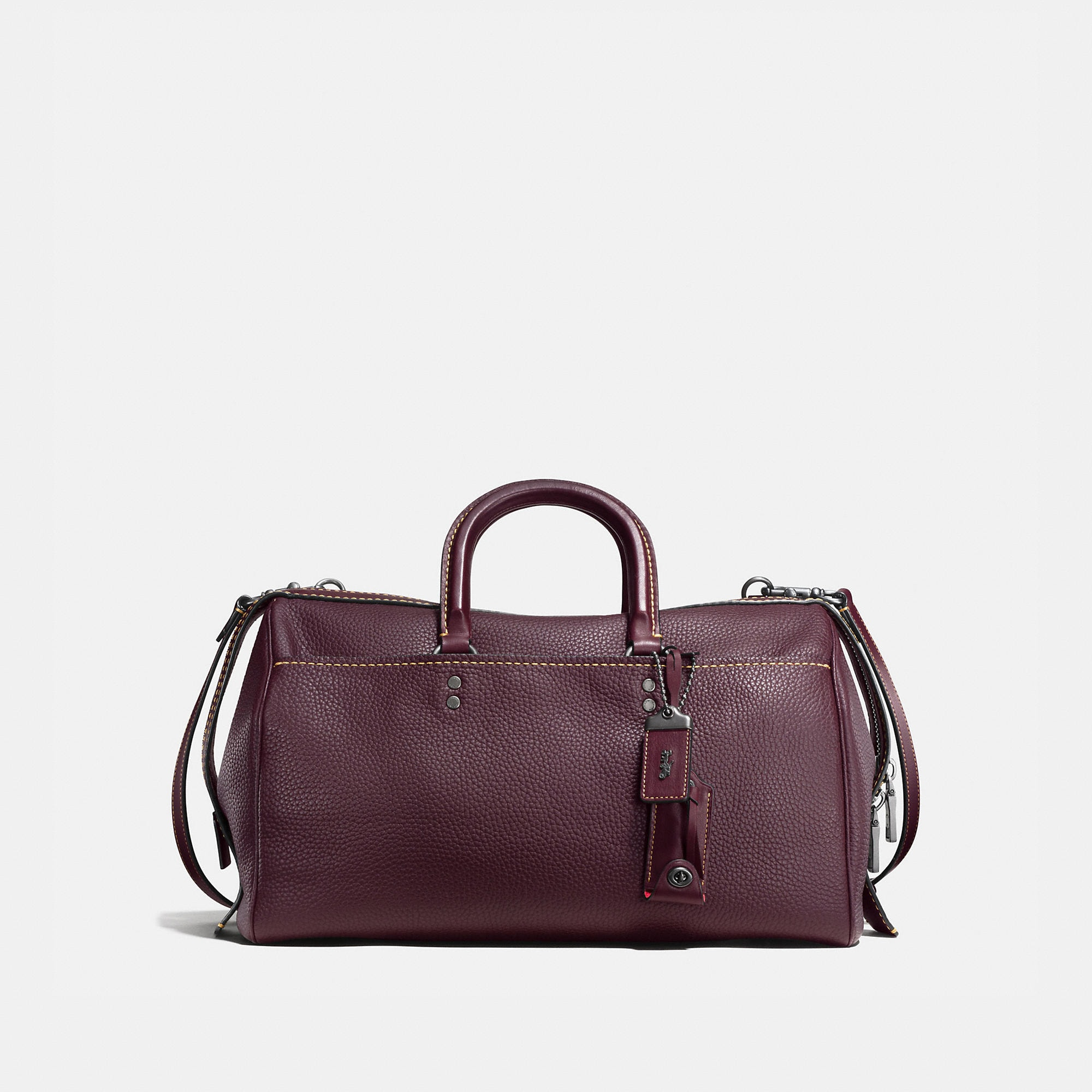 Coach Rogue Satchel 36 In Glovetanned Pebble Leather