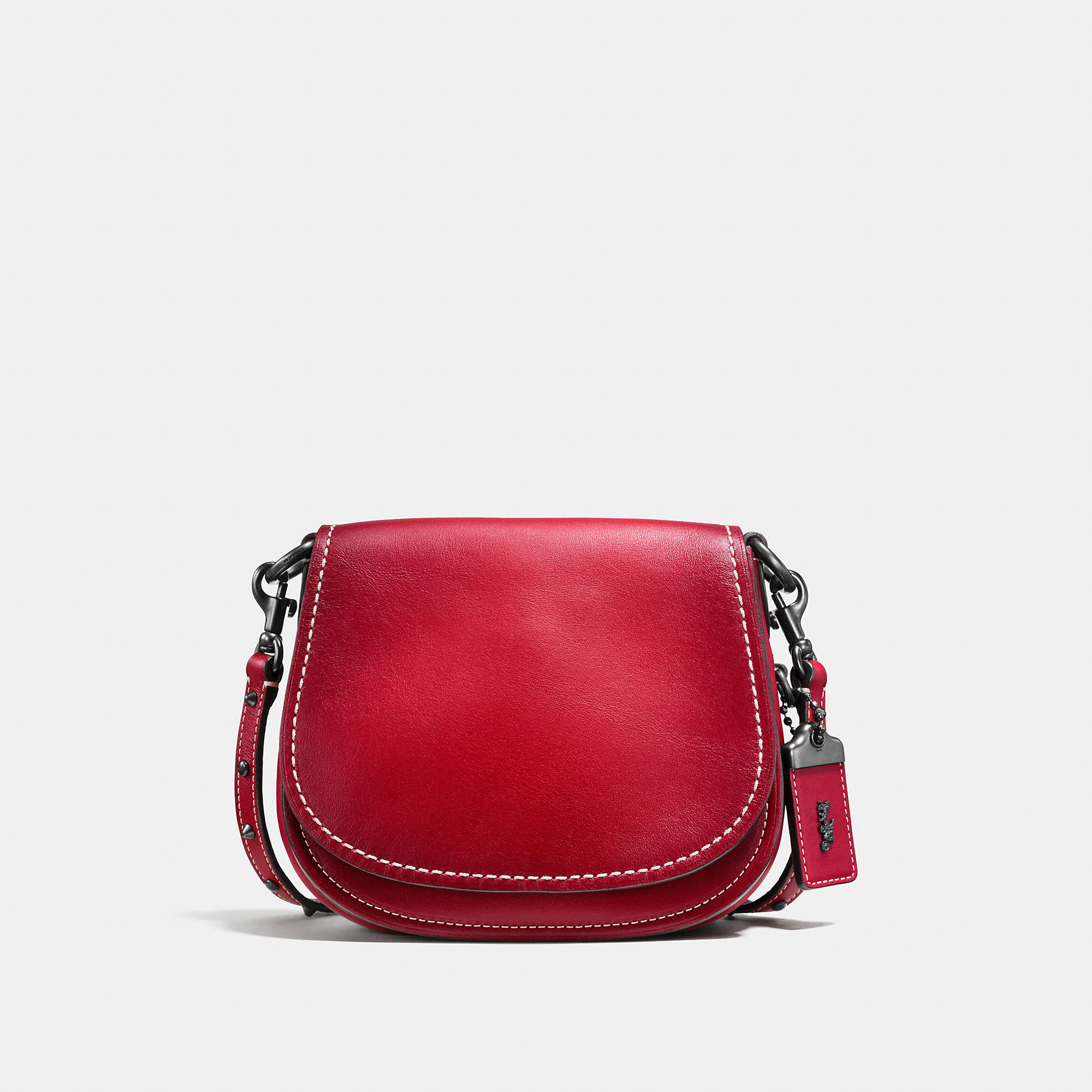 Coach Saddle Bag 17 In Glovetanned Leather