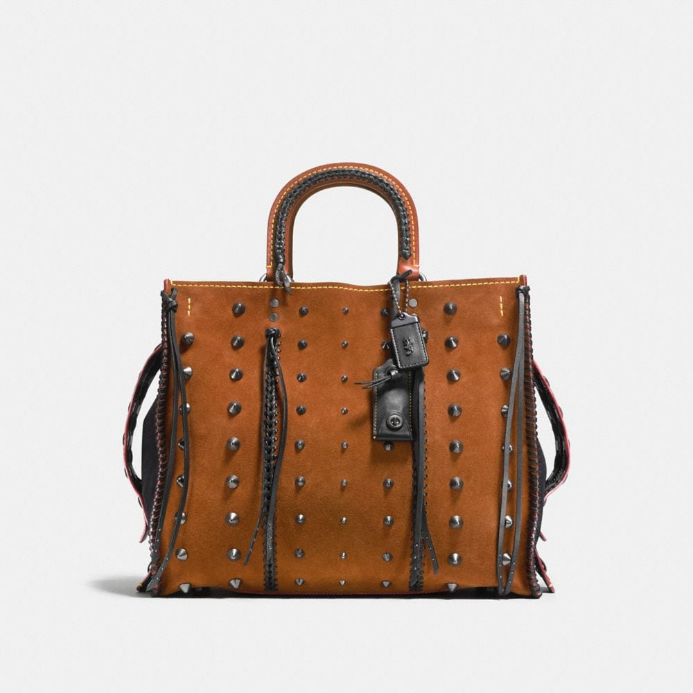 Coach Rogue 36 in Suede With Western Whiplash Detail