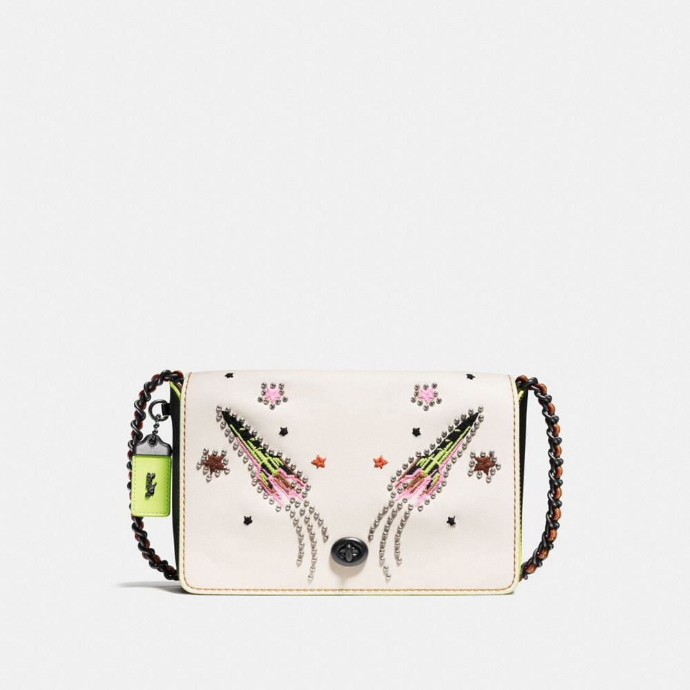 DINKY CROSSBODY 24 IN GLOVETANNED LEATHER WITH ROCKET EMBELLISHMENT