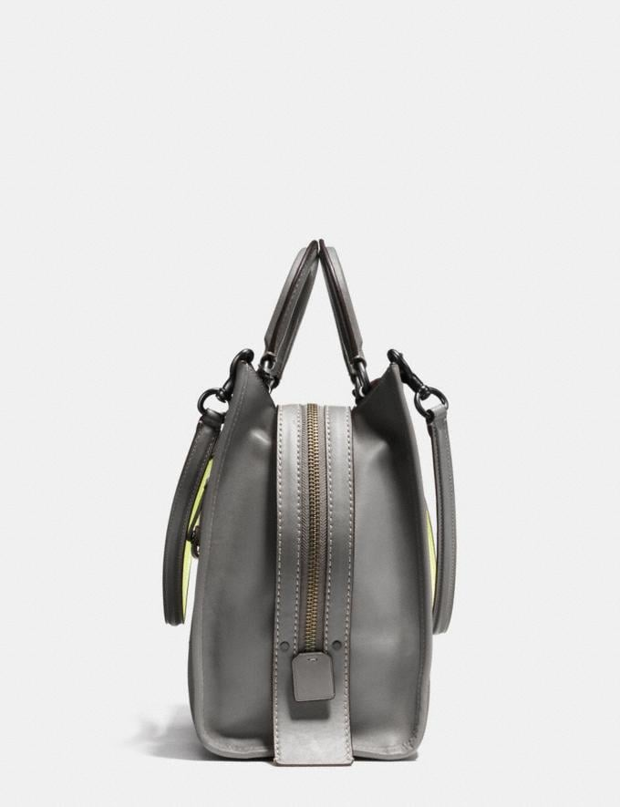 Coach Rogue 36 in Glovetanned Leather With Car Embellishment Heather Grey/Black Copper SALE Women's Sale New to Sale New to Sale Alternate View 1
