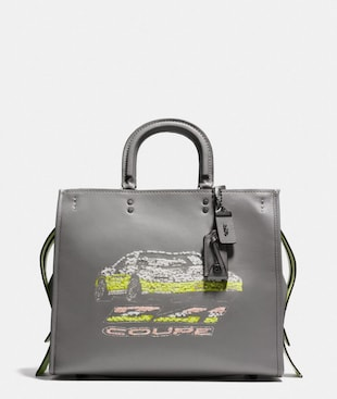 ROGUE 36 IN GLOVETANNED LEATHER WITH CAR EMBELLISHMENT