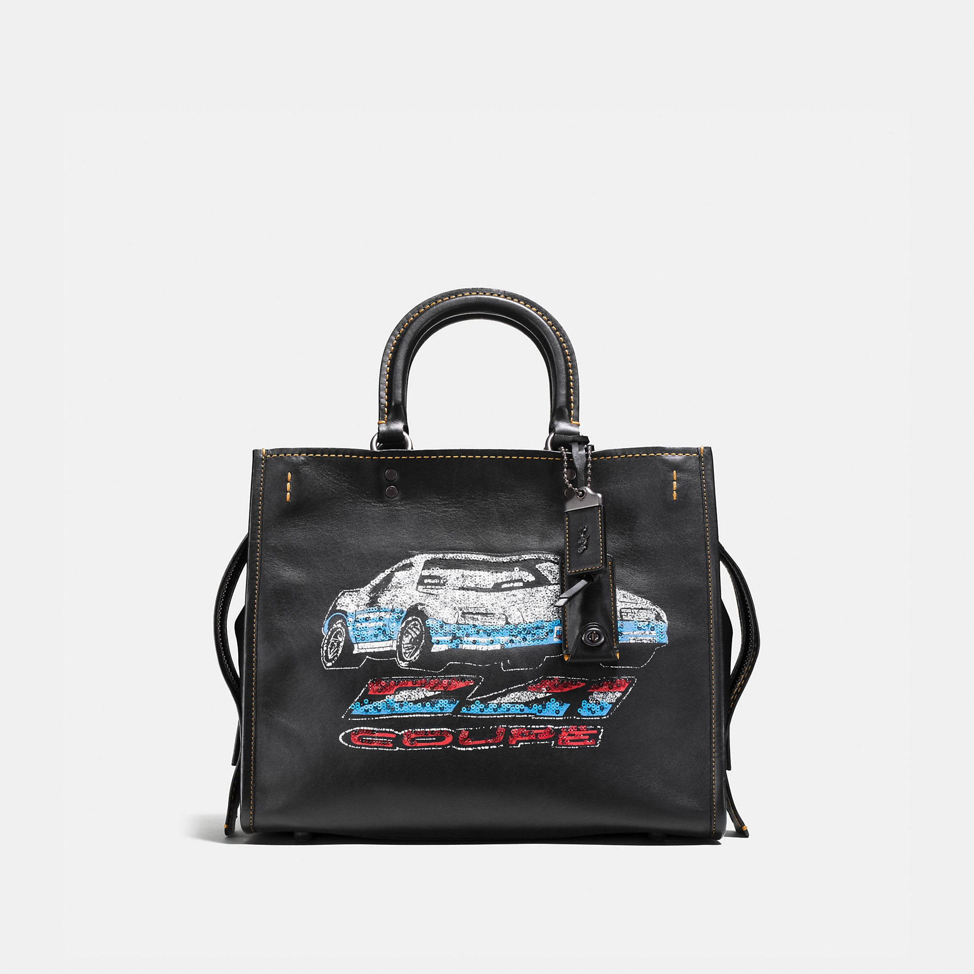 Coach Rogue In Glovetanned Leather With Car Embellishment