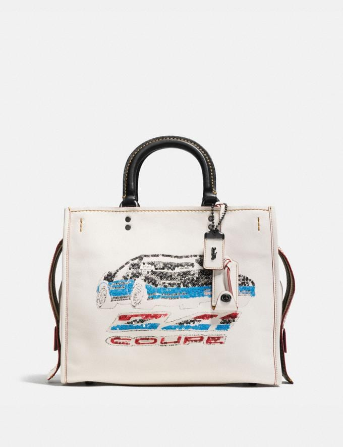 Coach Rogue in Glovetanned Leather With Car Embellishment Bp/Chalk
