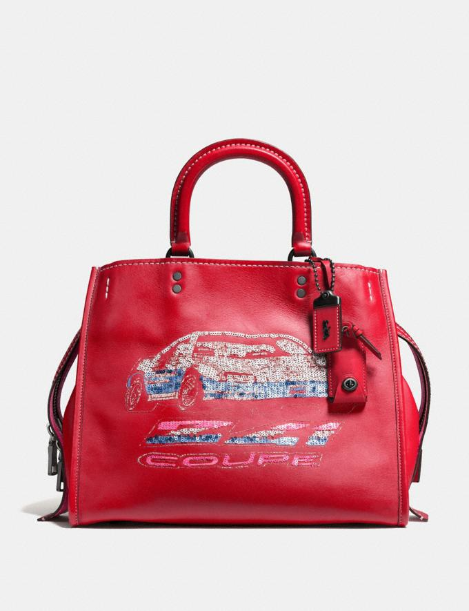 Coach Rogue With Car 1941 Red/Black Copper SALEDDD Women's Sale New to Sale New to Sale