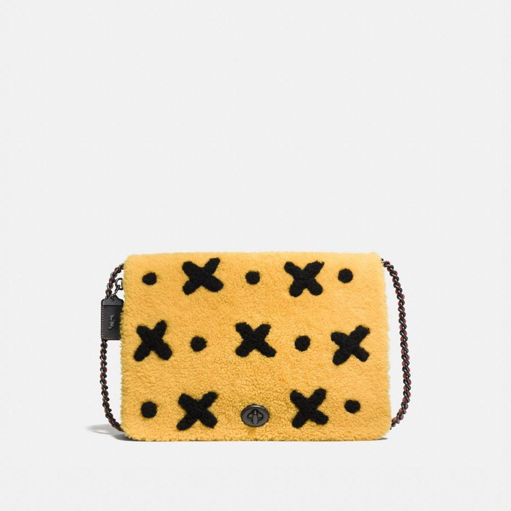 Felix Bag of Tricks Dinky Crossbody 32 in Shearling