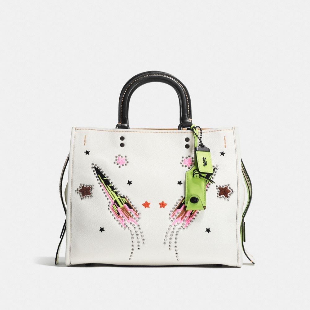 ROGUE IN GLOVETANNED PEBBLE LEATHER WITH ROCKET EMBELLISHMENT