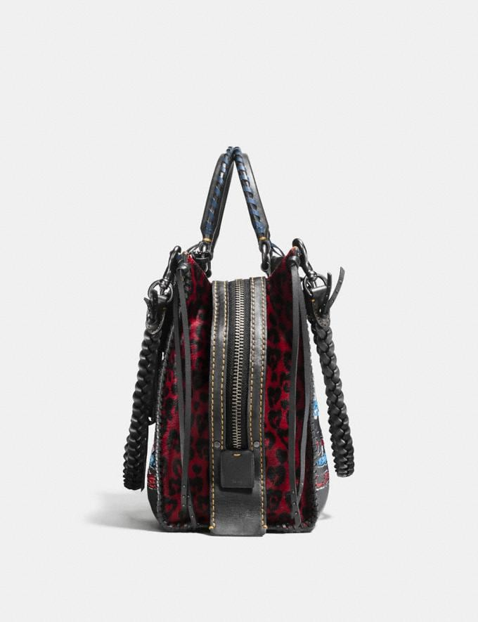 Coach Rogue in Embellished Patchwork Mixed Materials Bp/Nude Pink Multi  Alternate View 1