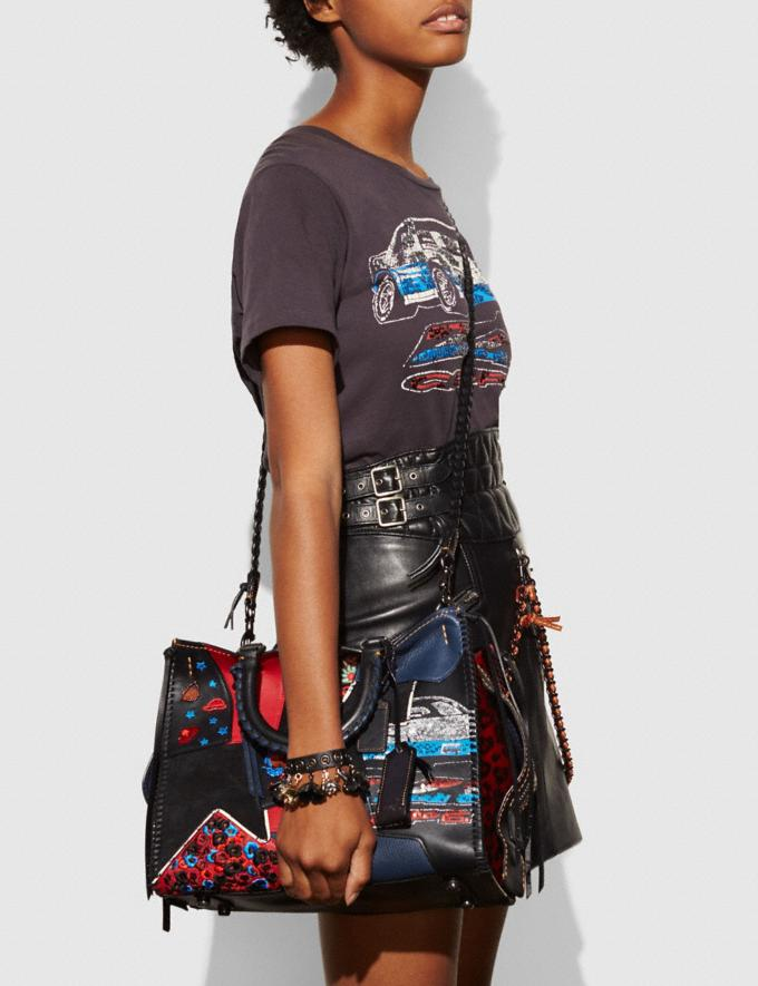 Coach Rogue in Embellished Patchwork Mixed Materials Bp/Nude Pink Multi  Alternate View 3
