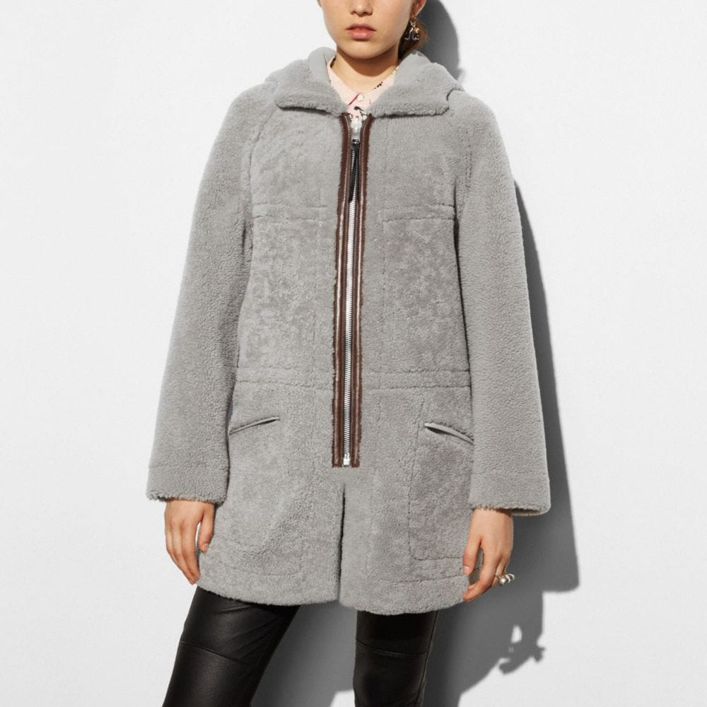 AprÈS Ski Reversible Shearling Coat - Alternate View M2