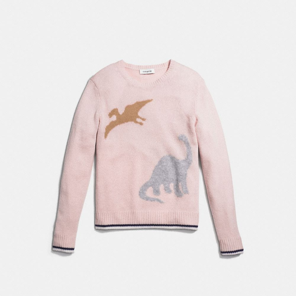 Long Sleeve Crewneck With Dino - Alternate View A1