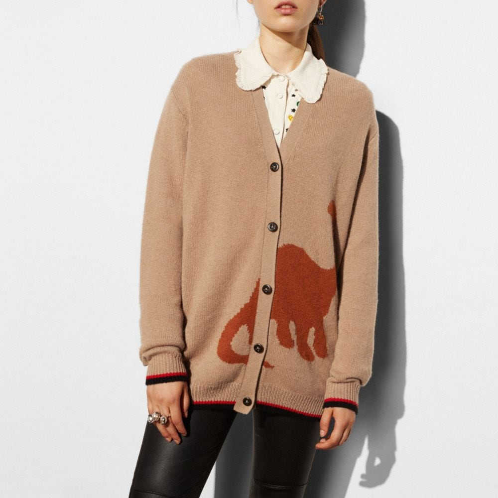 LONG SLEEVE CARDIGAN WITH DINO