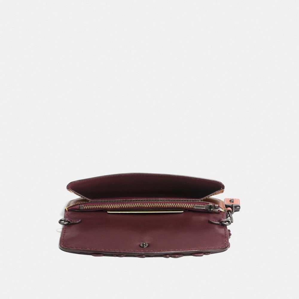 Coach Clutch With Tea Rose Alternate View 1