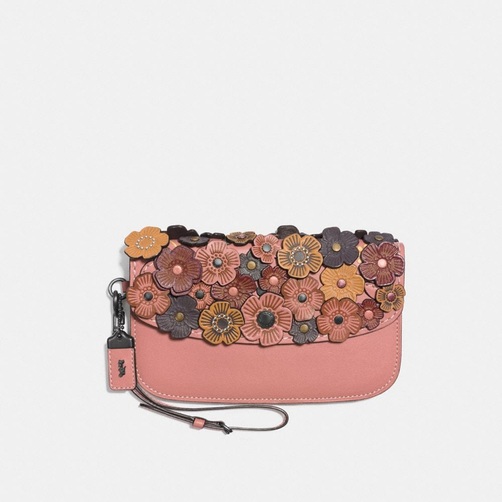CLUTCH WITH TEA ROSE