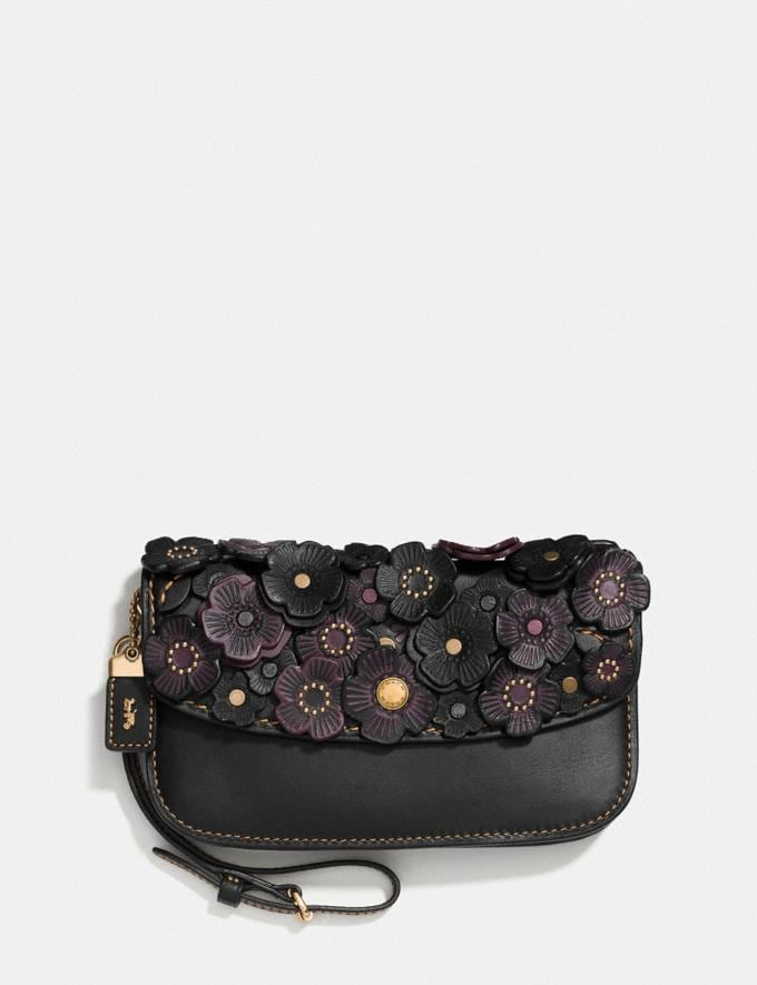Coach Clutch With Tea Rose Brass/Black Gifts For Her Mother's Day Gifts Gifts Nav Mother's Day Gifts The Trendsetter