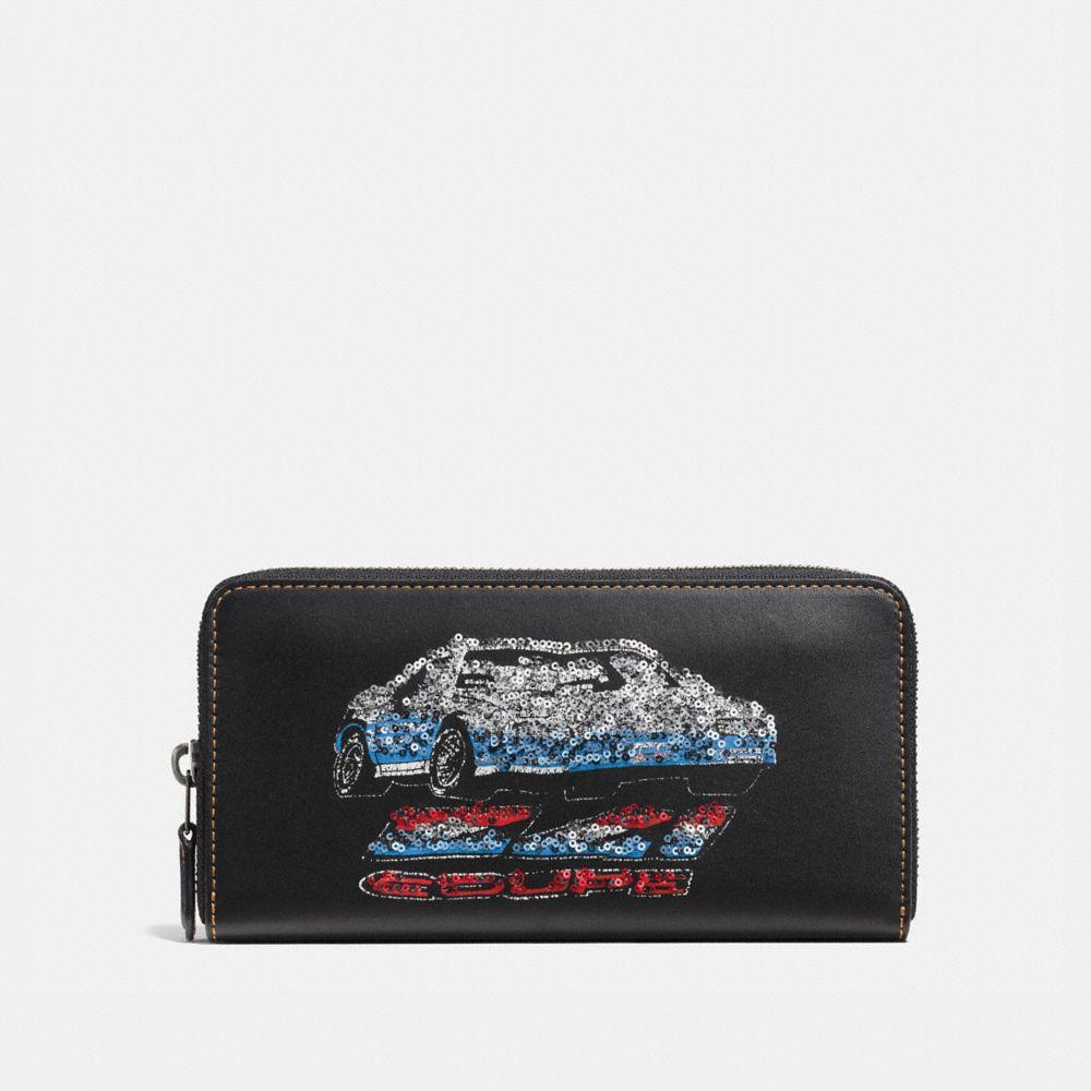 Coach Accordion Zip Wallet With Car