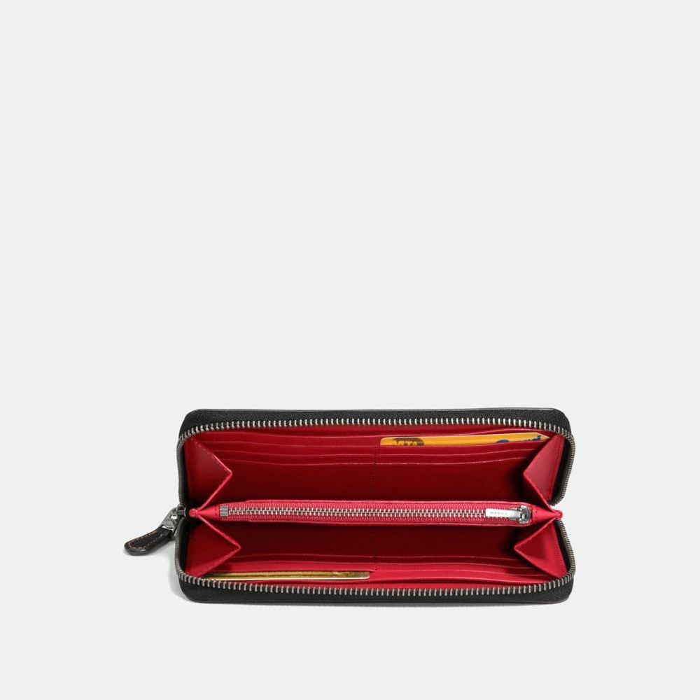 Coach Accordion Zip Wallet With Car Alternate View 1