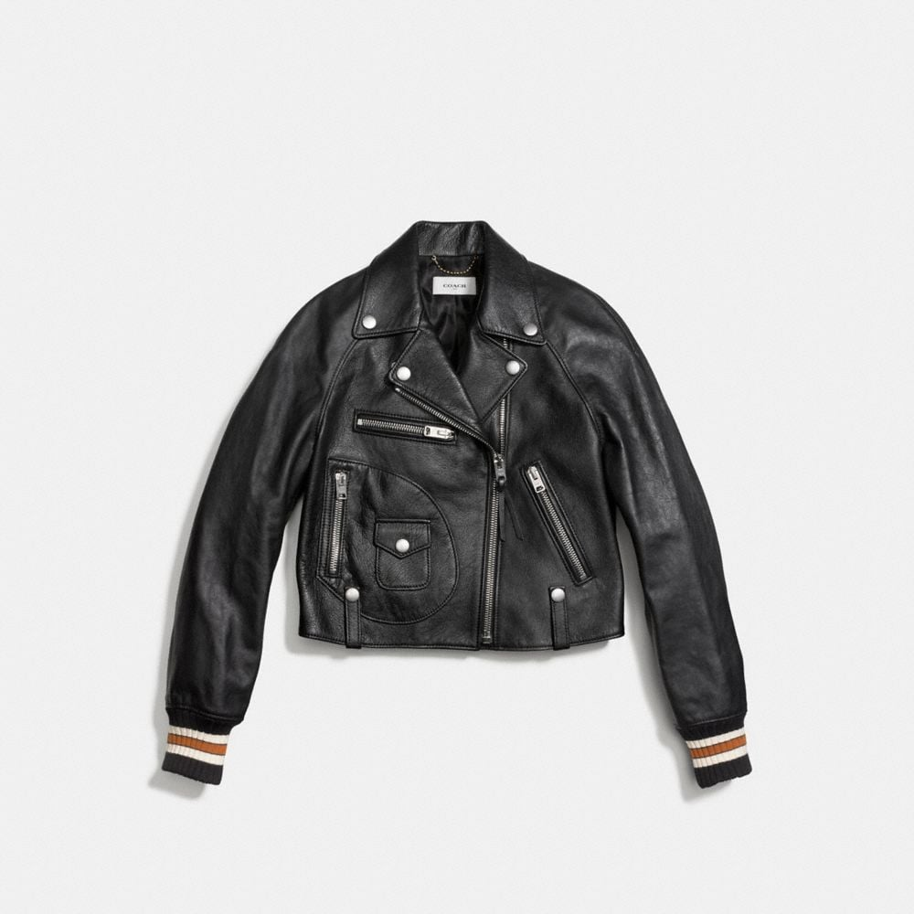 Coach Varsity Moto Jacket Alternate View 1