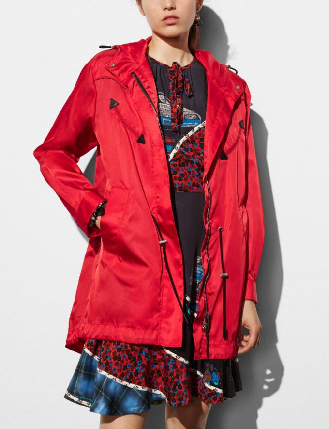 Coach Western Parka Red Women Ready-to-Wear Coats & Jackets