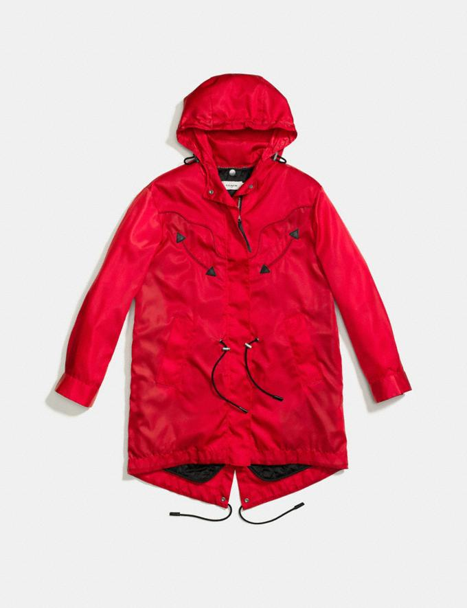 Coach Western Parka Red Women Ready-to-Wear Coats & Jackets Alternate View 1