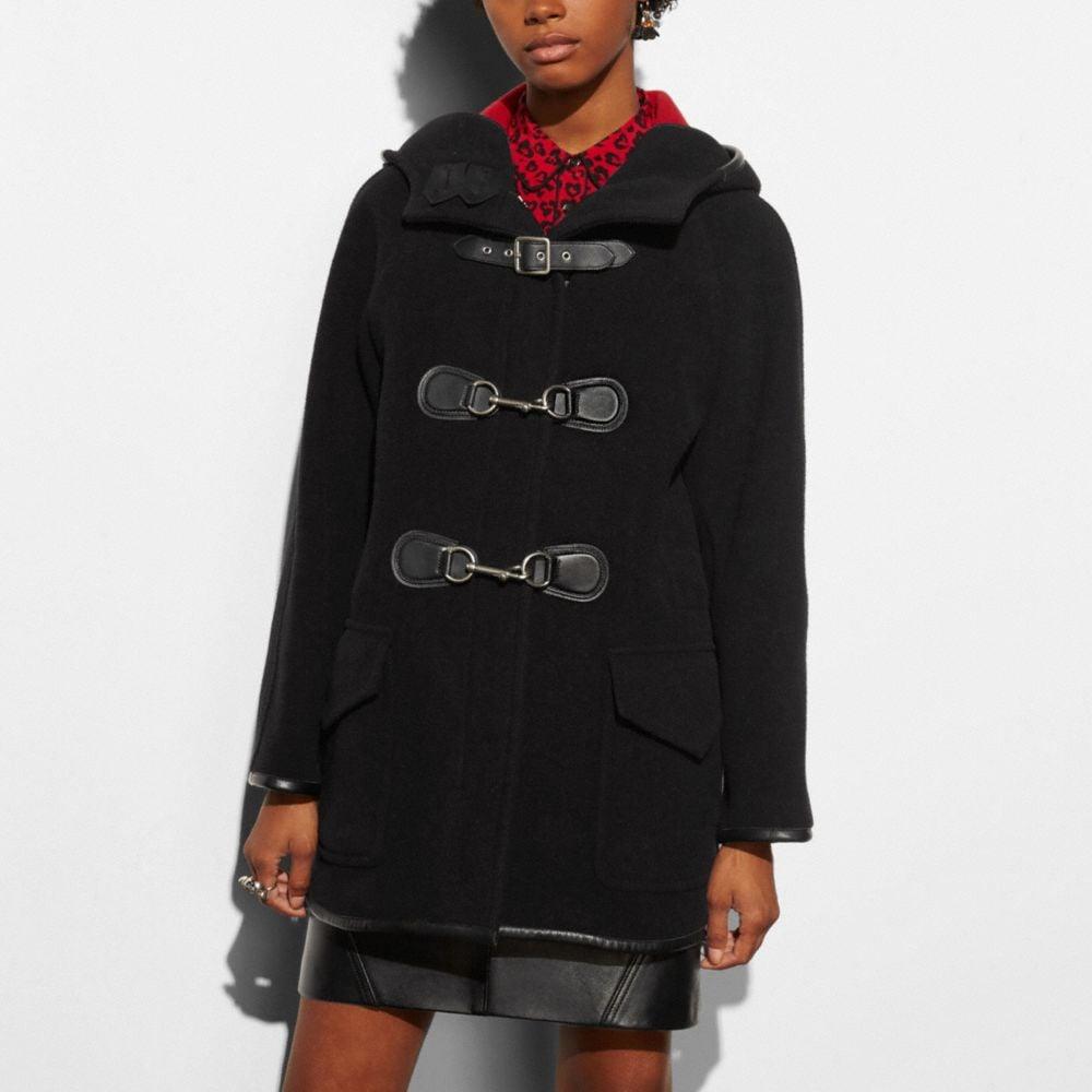 Coach Dog Clip Duffle Coat