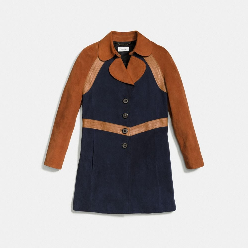 Coach Colorblock Suede Jacket Alternate View 1