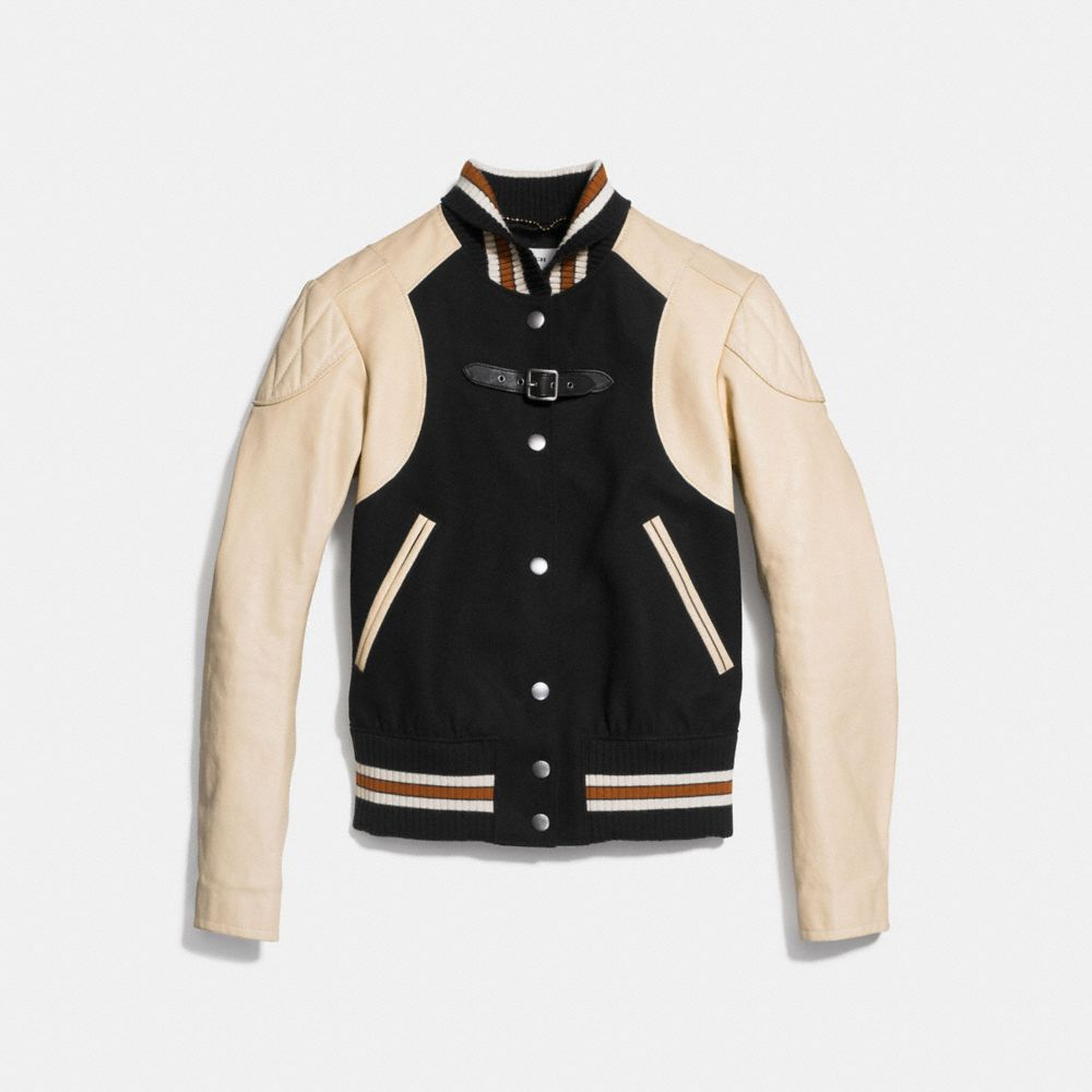 Coach Moto Varsity Jacket Alternate View 1