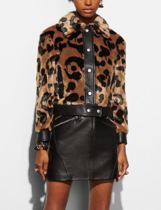 Coach Wild Beast Faux Fur Jacket Brown Runway Shop Women Ready-to-Wear