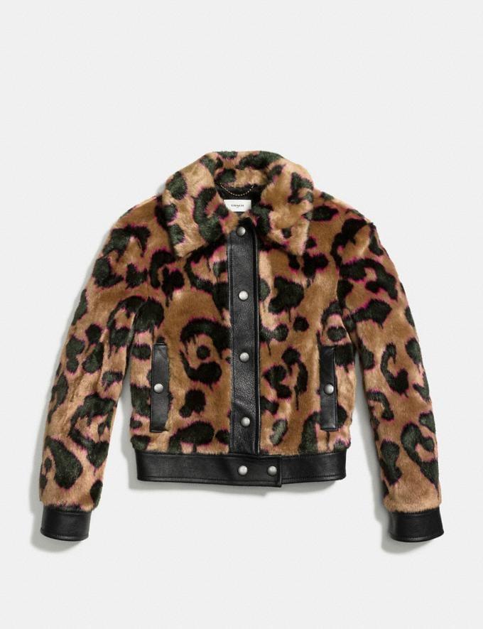 Coach Wild Beast Faux Fur Jacket Brown Runway Shop Women Ready-to-Wear Alternate View 1