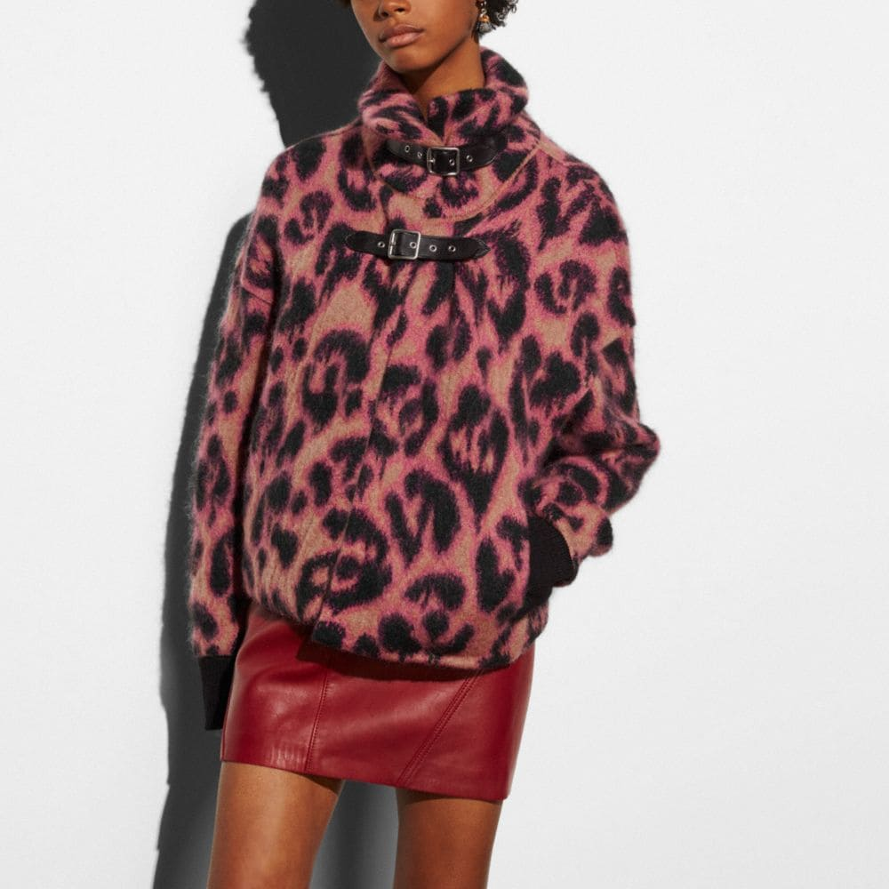 Coach Wild Beast Cropped Sweater Coat