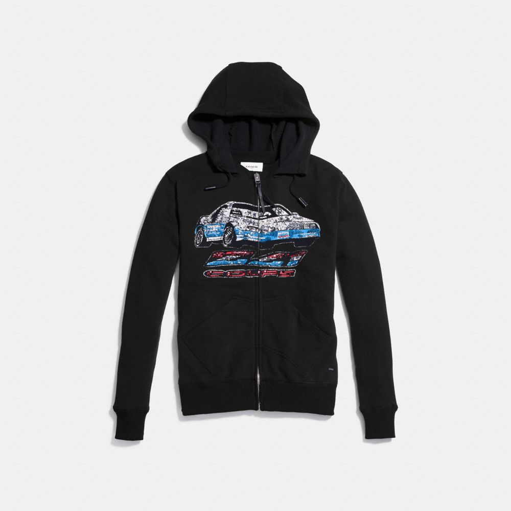 Coach Car Print Hoodie Alternate View 1