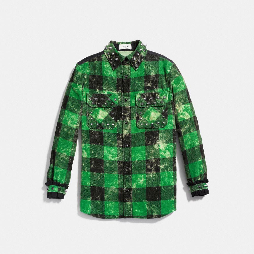 Stud Plaid Shirt - Alternate View A1