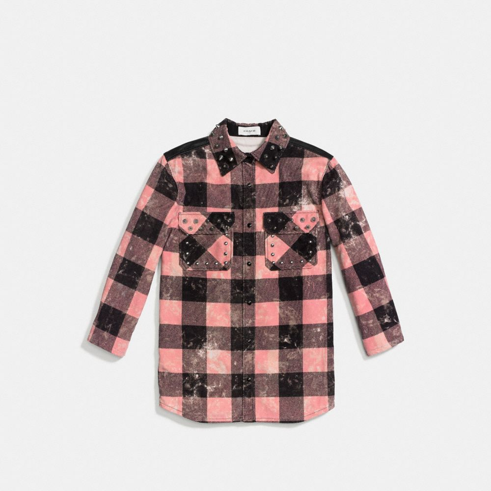 Coach Stud Plaid Shirt Alternate View 1