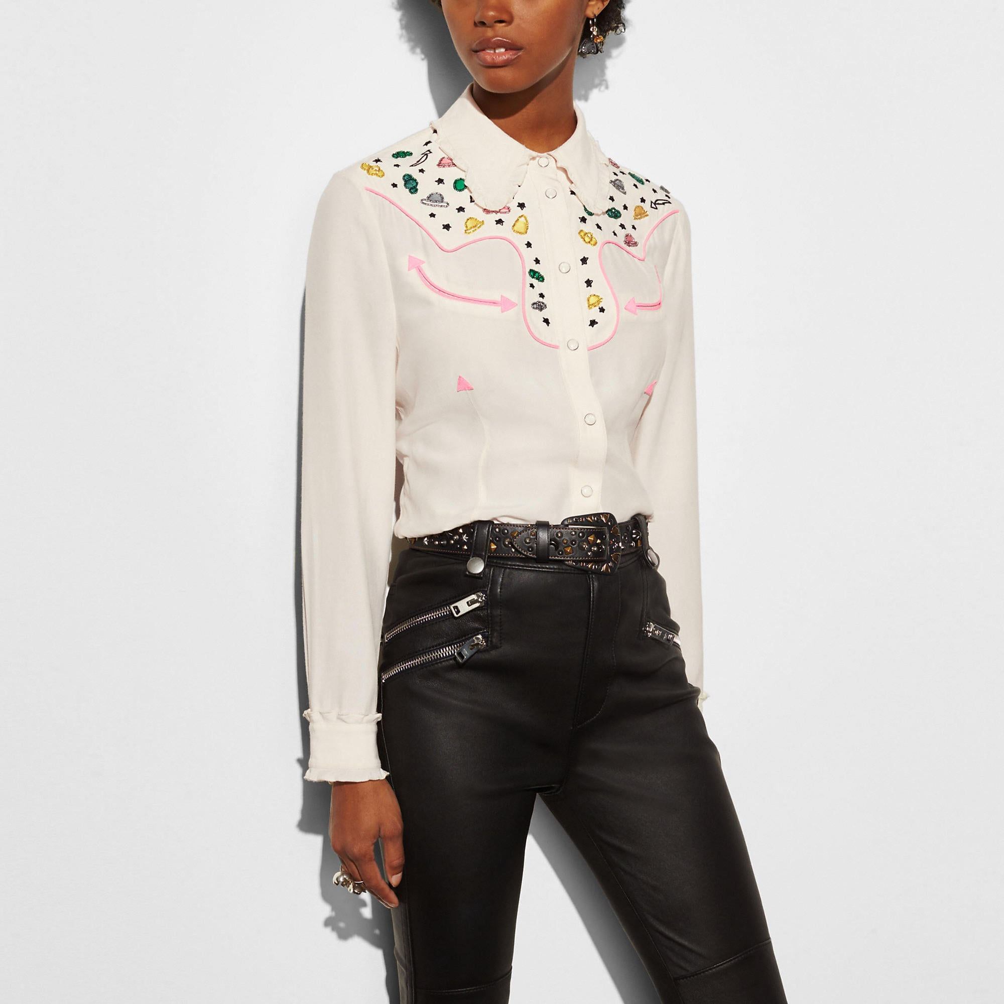 Coach Western Shirt With Embellishment