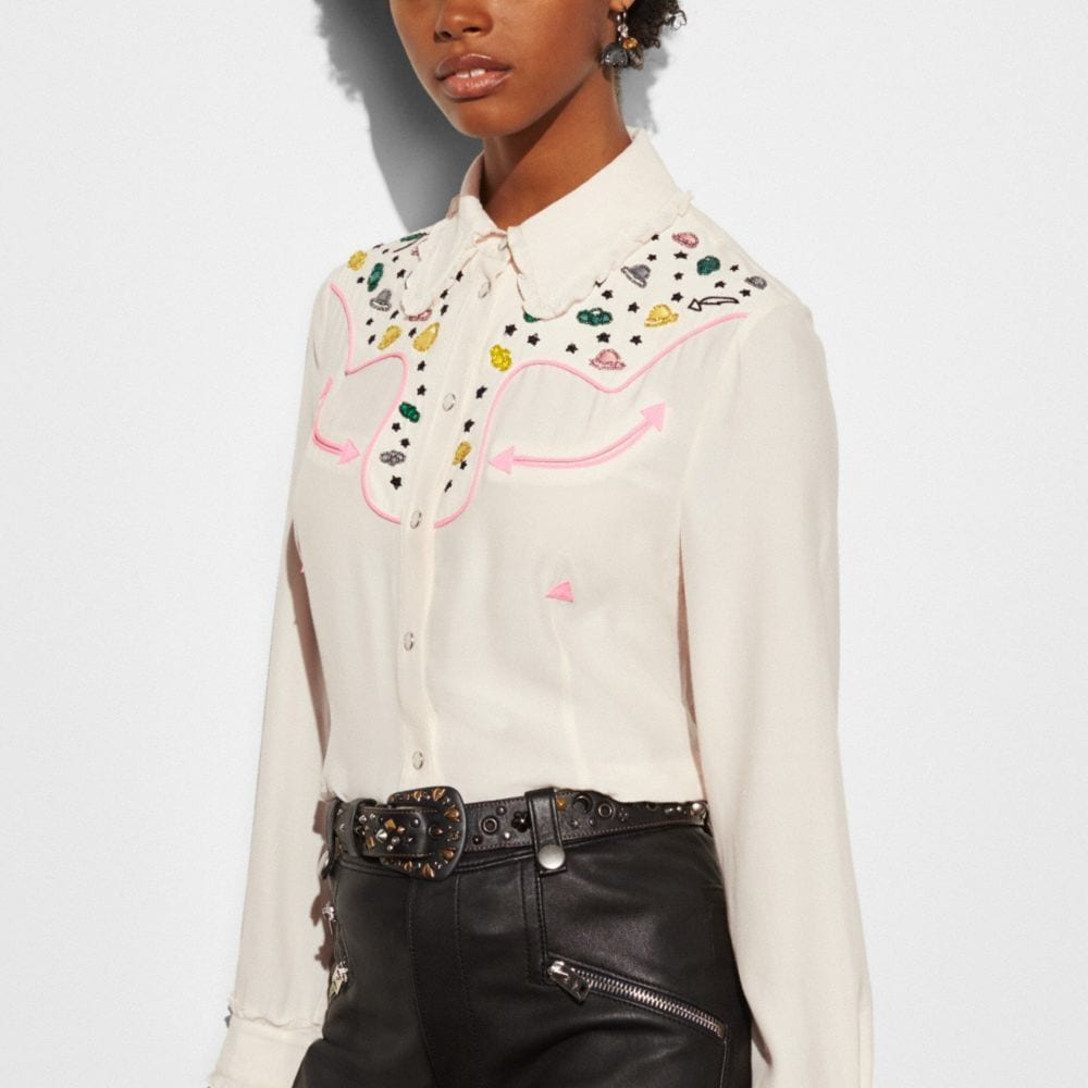 Coach Western Shirt With Embellishment Alternate View 2
