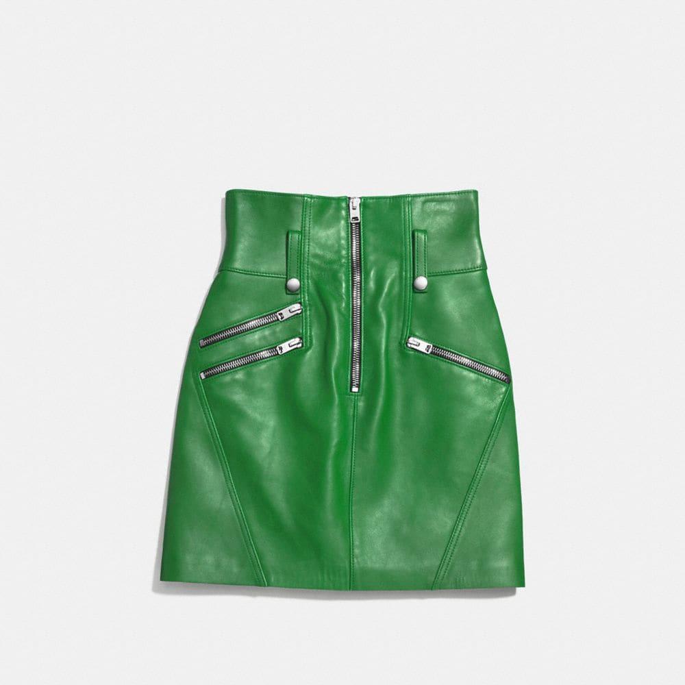 High Waisted Moto Skirt - Alternate View A1