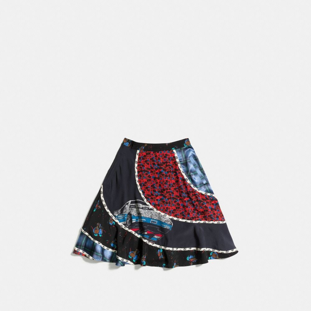 Car Circular Patchwork Skirt - Alternate View A1