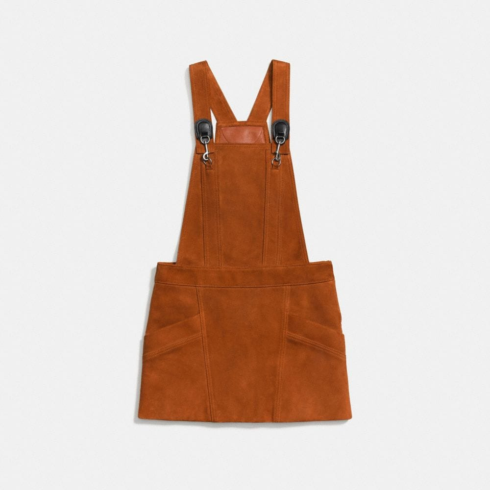 Coach Suede Pinafore Dress Alternate View 1