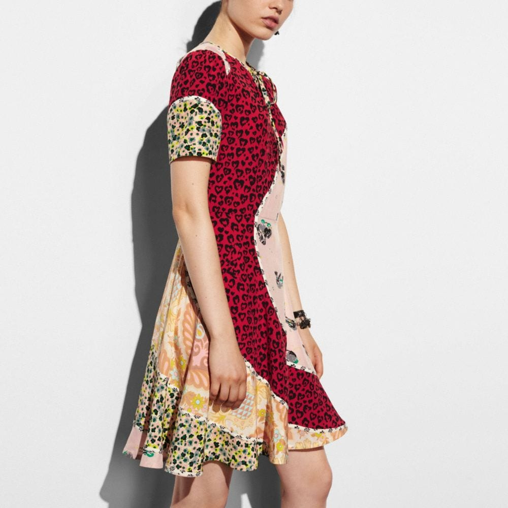 Coach Circular Patchwork Dress