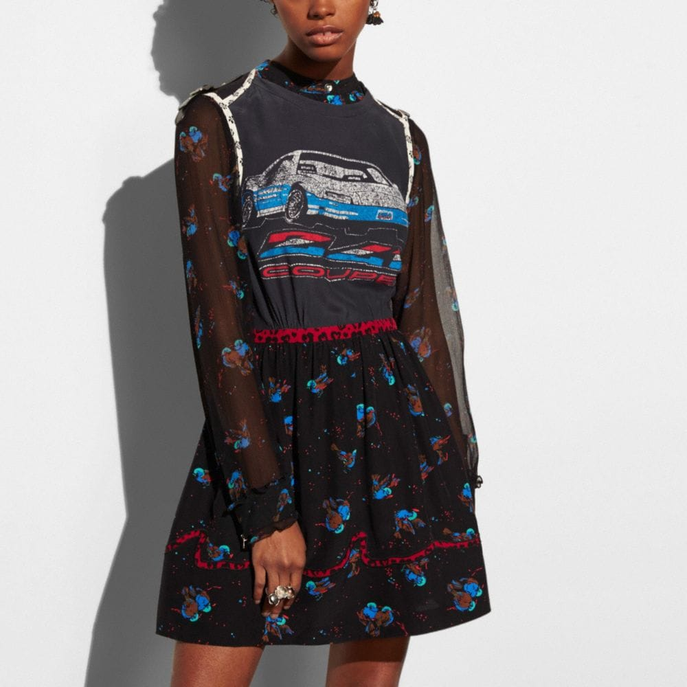 CAR PATCHWORK PRINT DRESS