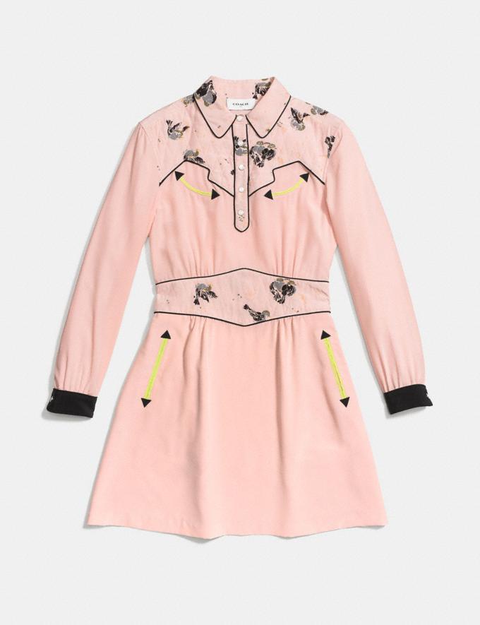 Coach Printed Western Dress Shell Runway Shop Women Ready-to-Wear Alternate View 1