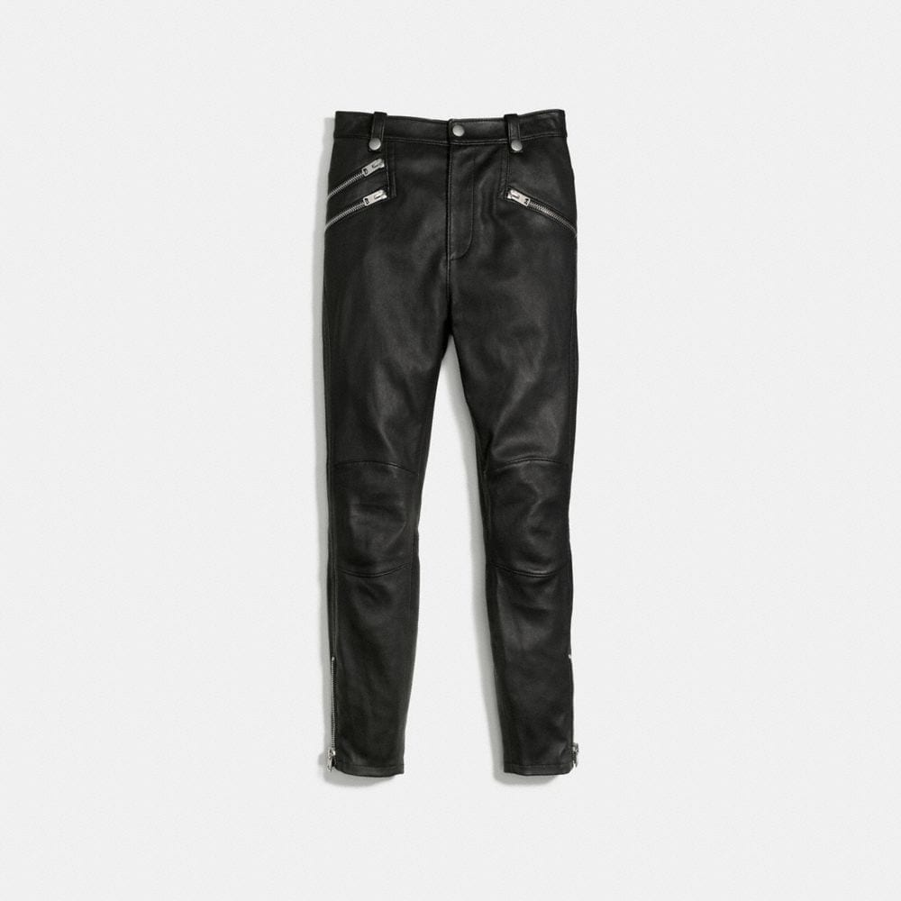 Leather Biker Pant - Alternate View A1