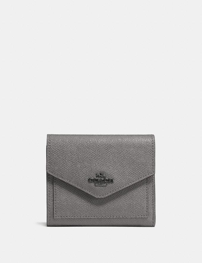 Coach Small Wallet Dark Gunmetal/Heather Grey Gifts For Her Under £100